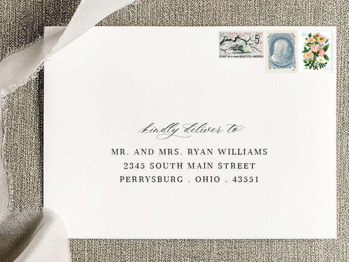 Tmx Envelope Addressing 51 384972 157867805980614 Toledo wedding invitation
