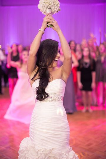 Bridal bouquet toast