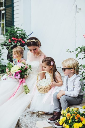 Bride and Little Helpers
