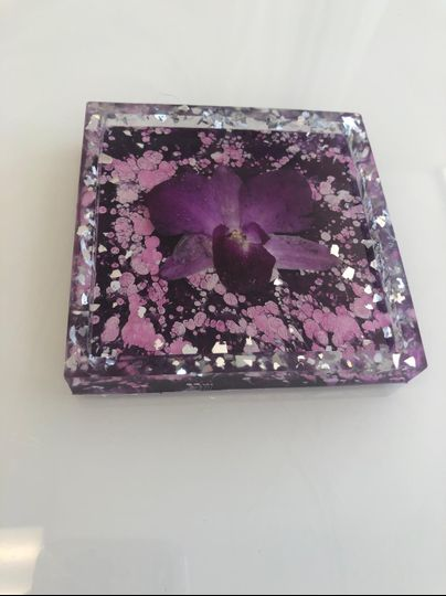 Purple Orchid coaster