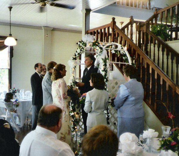 Our Wedding Officiant, Bob Javorsky presiding.