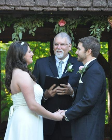 Bob Javorsky, founder and licensed minister, has known the bride, Rose since she was 6 years old.