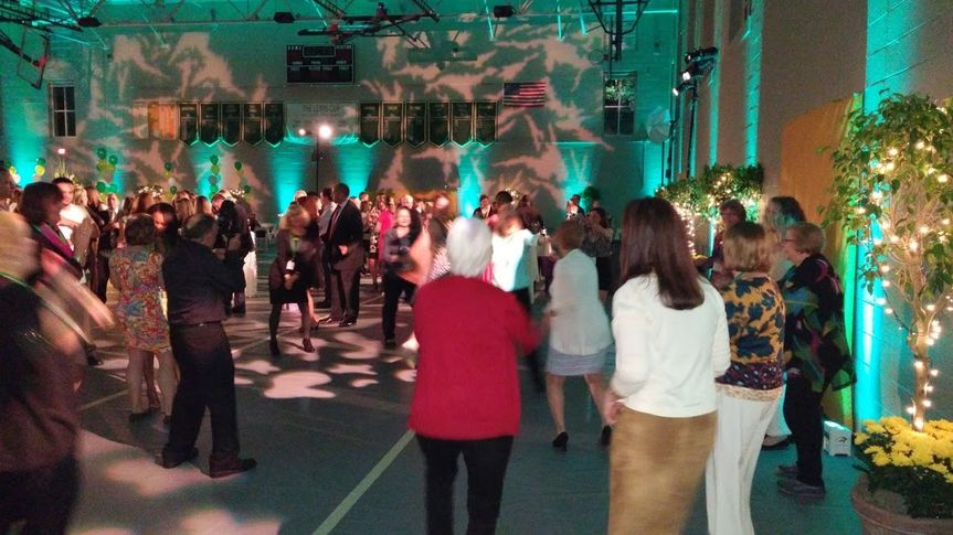 Multi-year reunion - dancers from graduating classes spanning the decades find common ground on the...