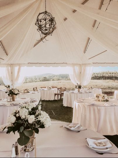 Event Tent Reception Space