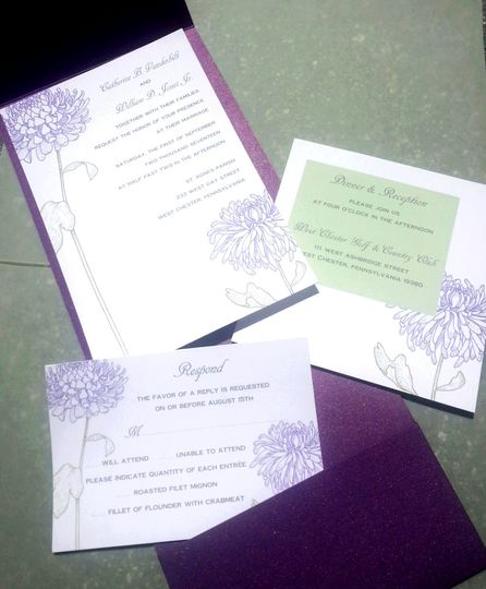 Purple themed invitation