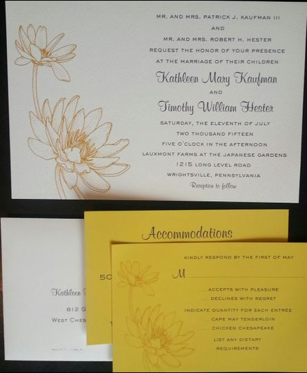 Yellow themed invitation