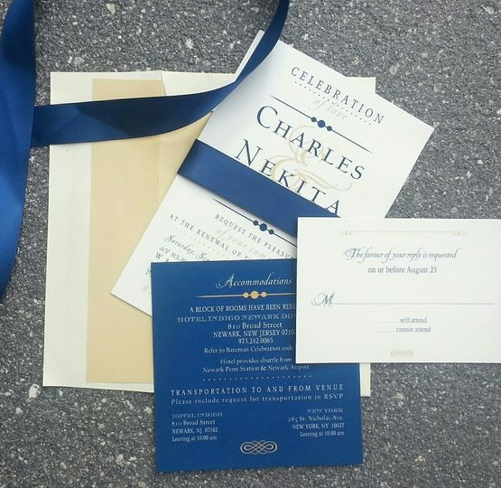 Blue themed invitation