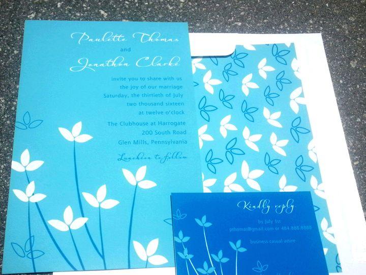 Tmx 1475259395417 2016 05 26 12.43.22 West Chester, Pennsylvania wedding invitation