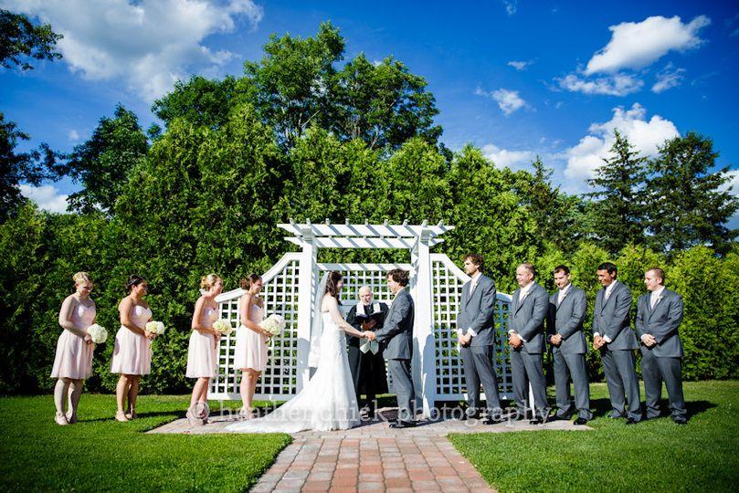 Outdoor wedding ceremmony
