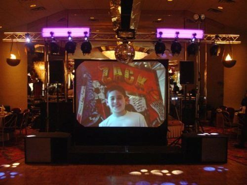 Mitzvah Setup with Screen