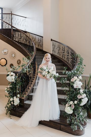 A bride on the staircase