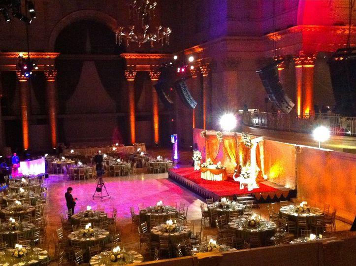 Reception and lighting