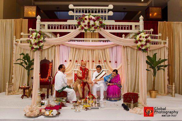 Indoor Indian Wedding Ceremony