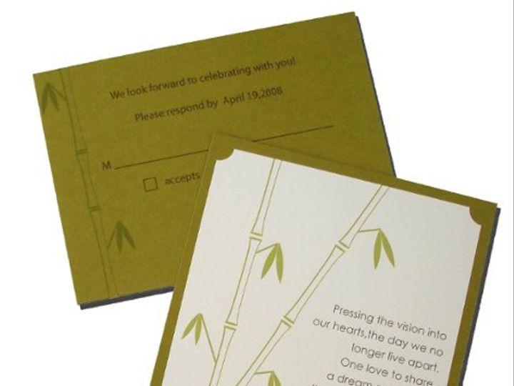 Tmx 1292826094663 Bamboo Tacoma wedding invitation