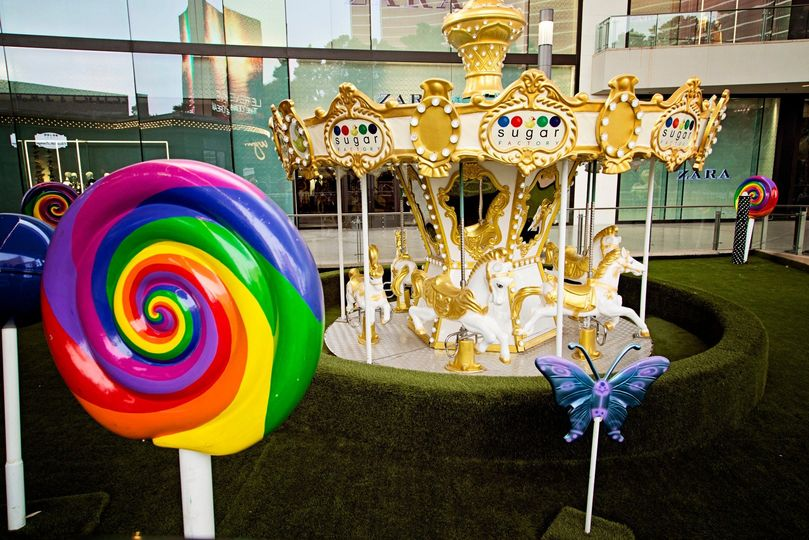 Whimsical candyland carousel