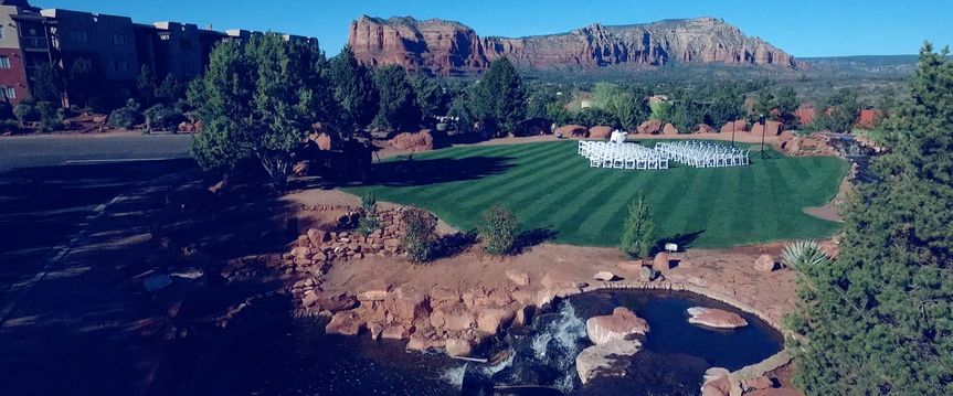 Sedona Golf Resort ceremony view.