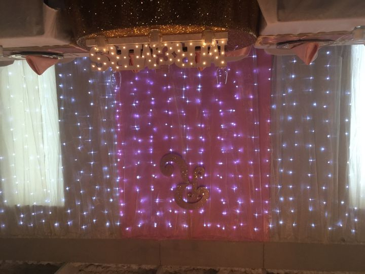 A backdrop can change a plain venue into a an elegant setting, perfect for setting off a head table...