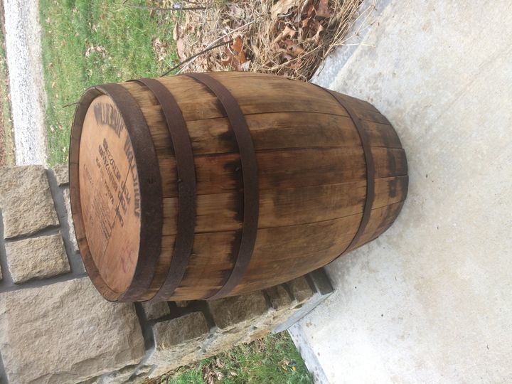 Wine barrels can be rented and used to create a multitude of accessories for your rustic wedding,...