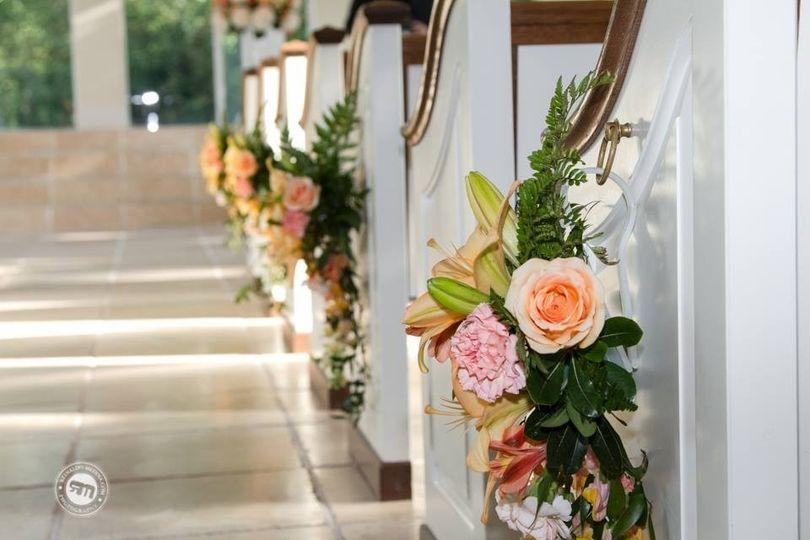Aisle floral decorations