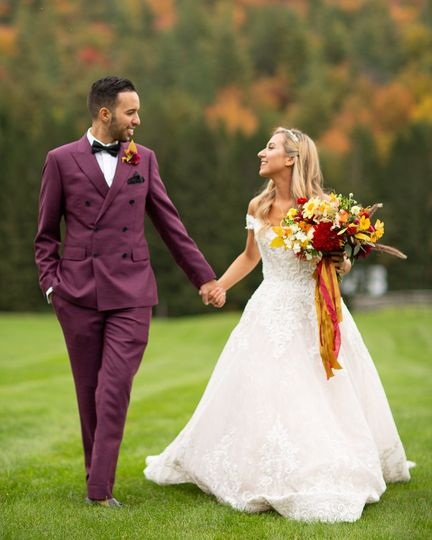 Riverside barn wedding