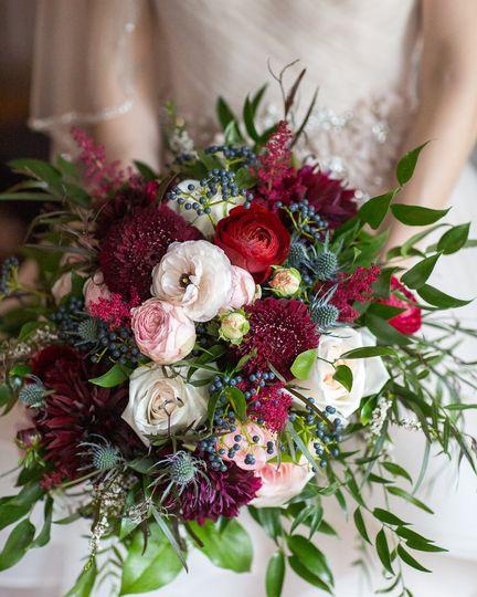 Twigs et fleur bouquet