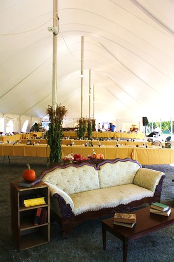 Personalized tent area