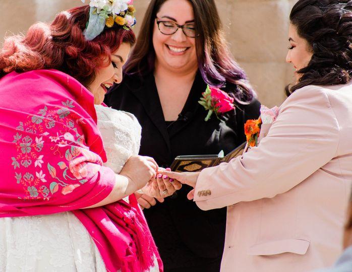 Colorful wedding ceremony