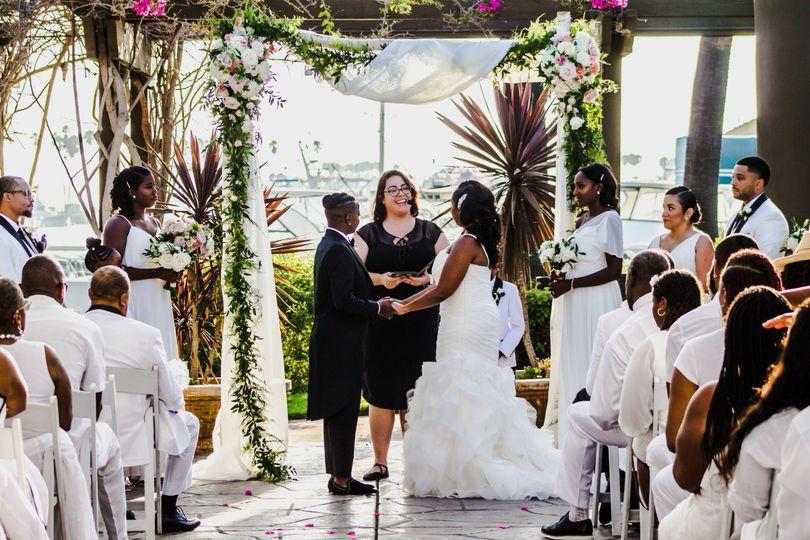 San Diego harbor wedding
