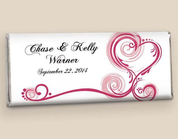 Chocolate Wedding Favors: Blush Regal Elegance