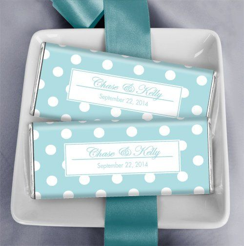 Tiffany Theme Wedding Favors: Lots of Dots in Robin's Egg Blue...
