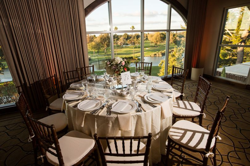 Table Overlooking the Course