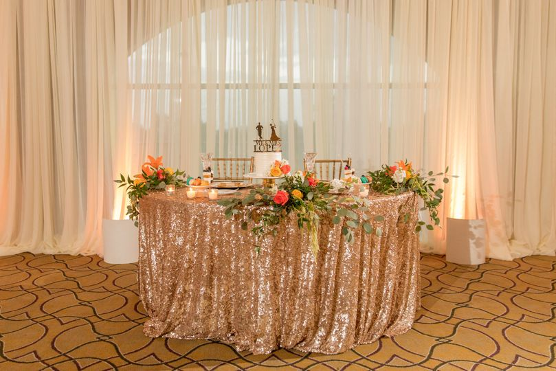 Sweetheart Table with Draping