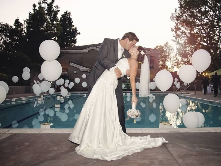 Tmx 1429648806240 Bride  Groom Kissing By Pool Costa Mesa wedding venue