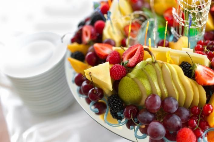 PLated fruits