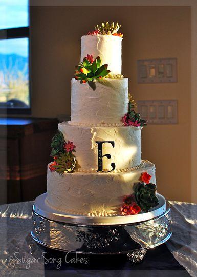 sugar song cakes wedding cake tucson az weddingwire. Black Bedroom Furniture Sets. Home Design Ideas