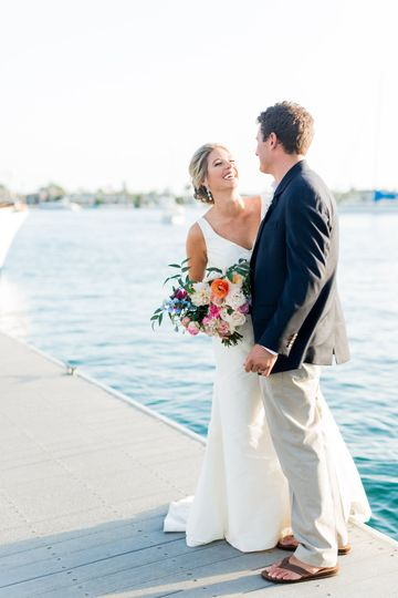 Waterfront couple shots