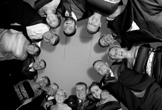 """They call it a """"party' for a reason.  This is a group shot of them taken during the reception."""