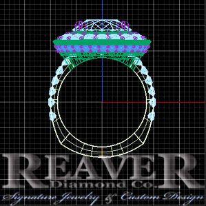 99e01d453db9090d Matrix Blue Sapphire YG Ring Side View 1 With Logo
