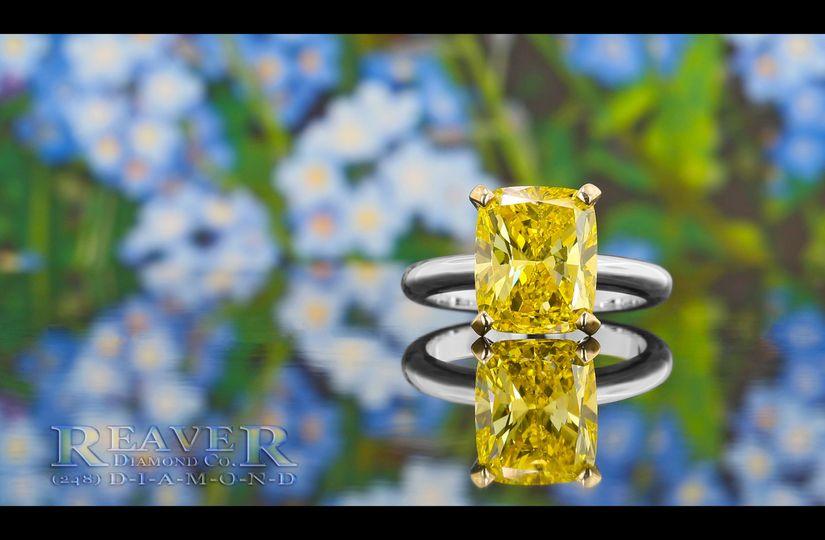 The Radiant Yellow Diamond Platinum Solitaire