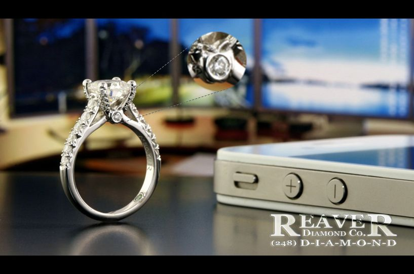 The 'Apple' Ring - with custom designed apple on the side (which was a special touch the customer...