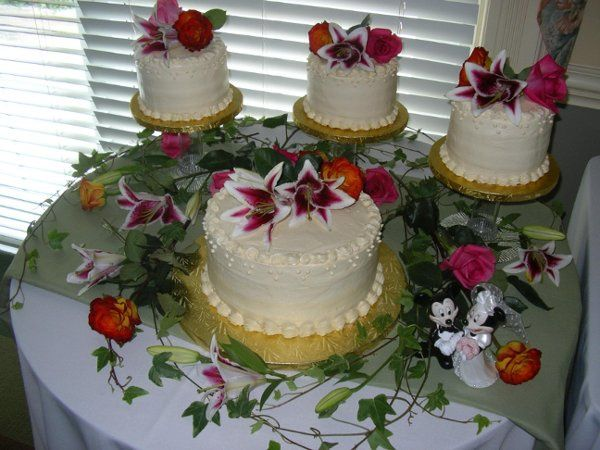 Iced with a special Ivory butter cream each of the small cakes were a different flavor, German...