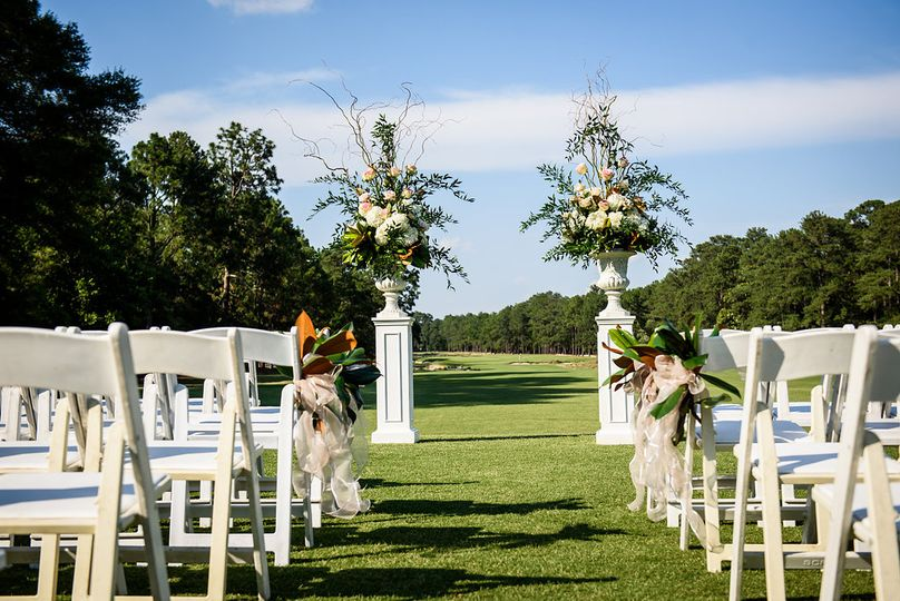 Outdoor ceremony setup