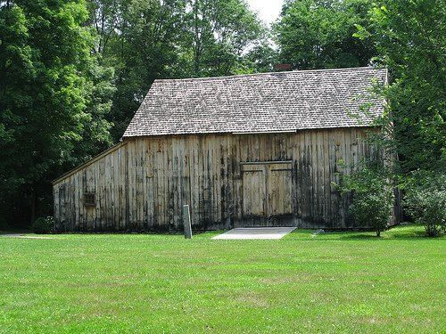 Exterior view of Gould Barn
