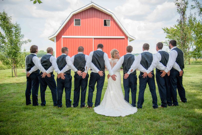 Catholic wedding mid Missouri outdoor photos