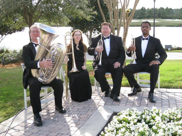 http://www.MusicRemembrance.com Brass Quartet for weddings for regal flare.  Music Remembrance has a...
