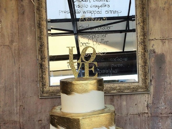 Tmx 1415159936244 Gold Love Cake Cary, North Carolina wedding cake