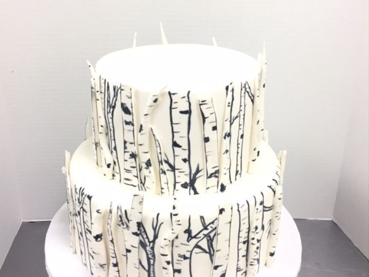Tmx 1446773234982 Birch Trees Cary, North Carolina wedding cake
