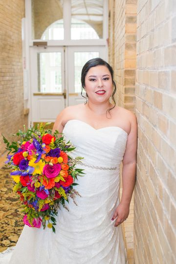Bridal hair and makep