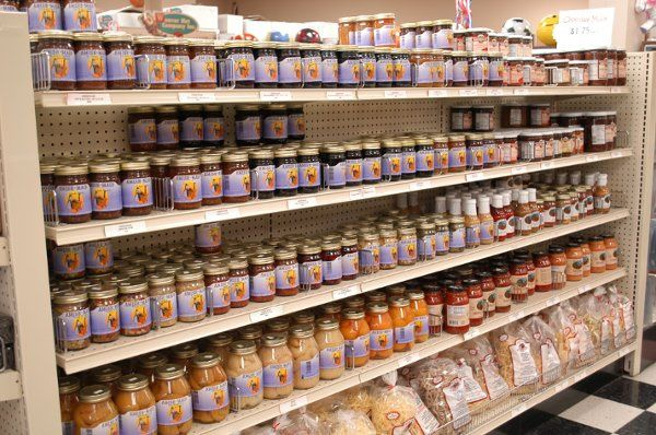 Jams, Jelly, Salsas, Relishes and other Bulk Foods.