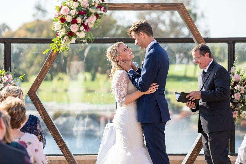 Oval Terrace Wedding Ceremony